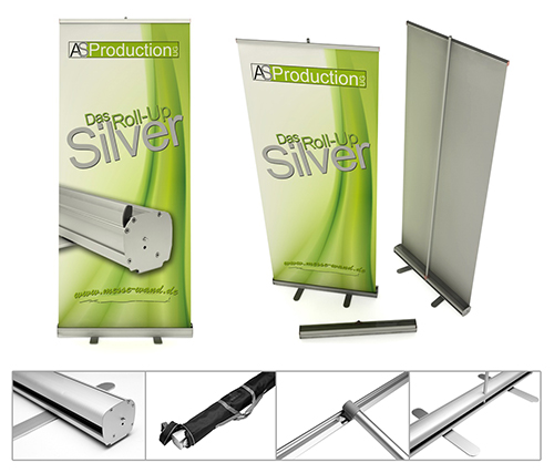 Messestand mit Roll-Up