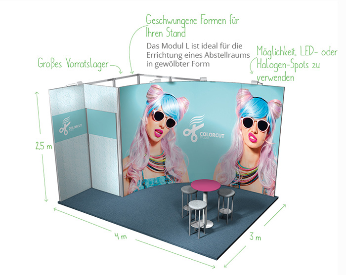 Messestand modular 12qm