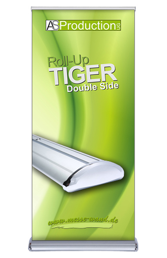 Roll Up Tiger Double Side inkl. Druck