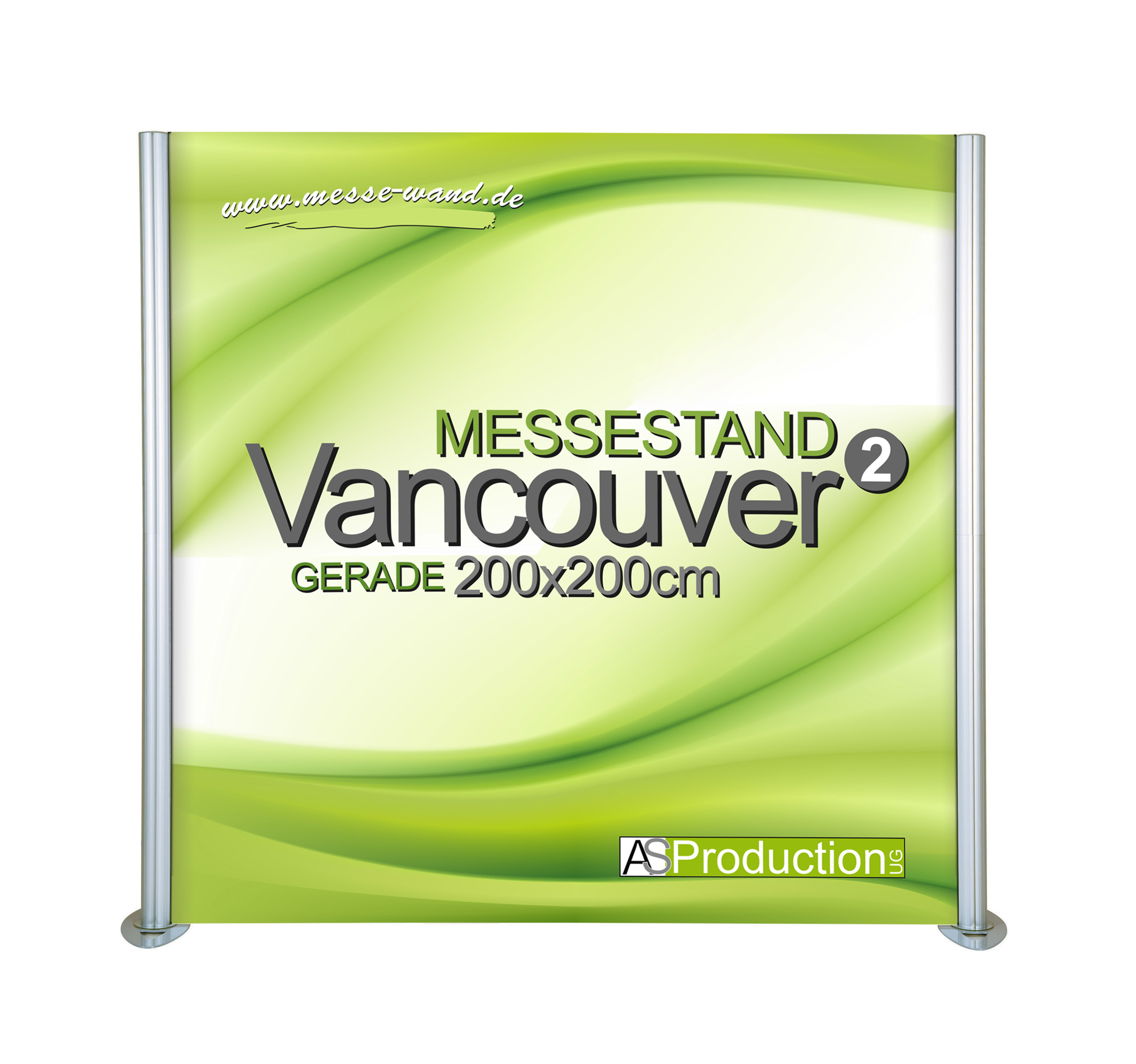 Messestand Promotion Wand Vancouver  Gerade 200 x 200 cm