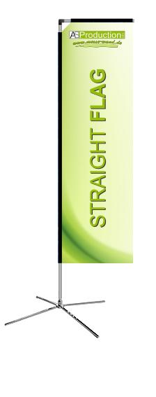 Straightflag S inkl. Druck