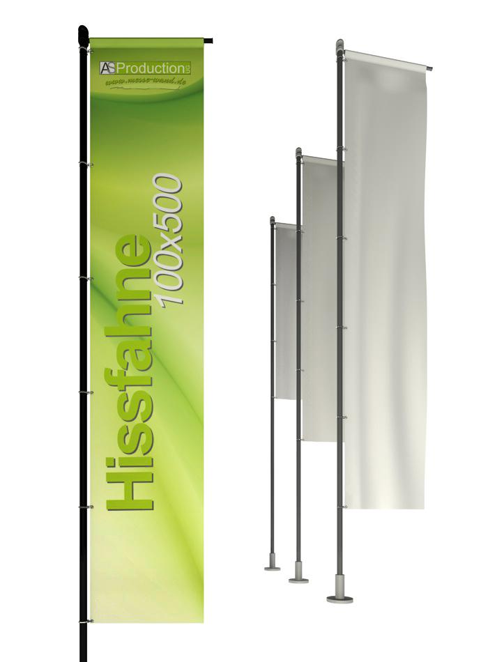 Hissfahne mit/ohne Hohlsaum 100 x 500 cm