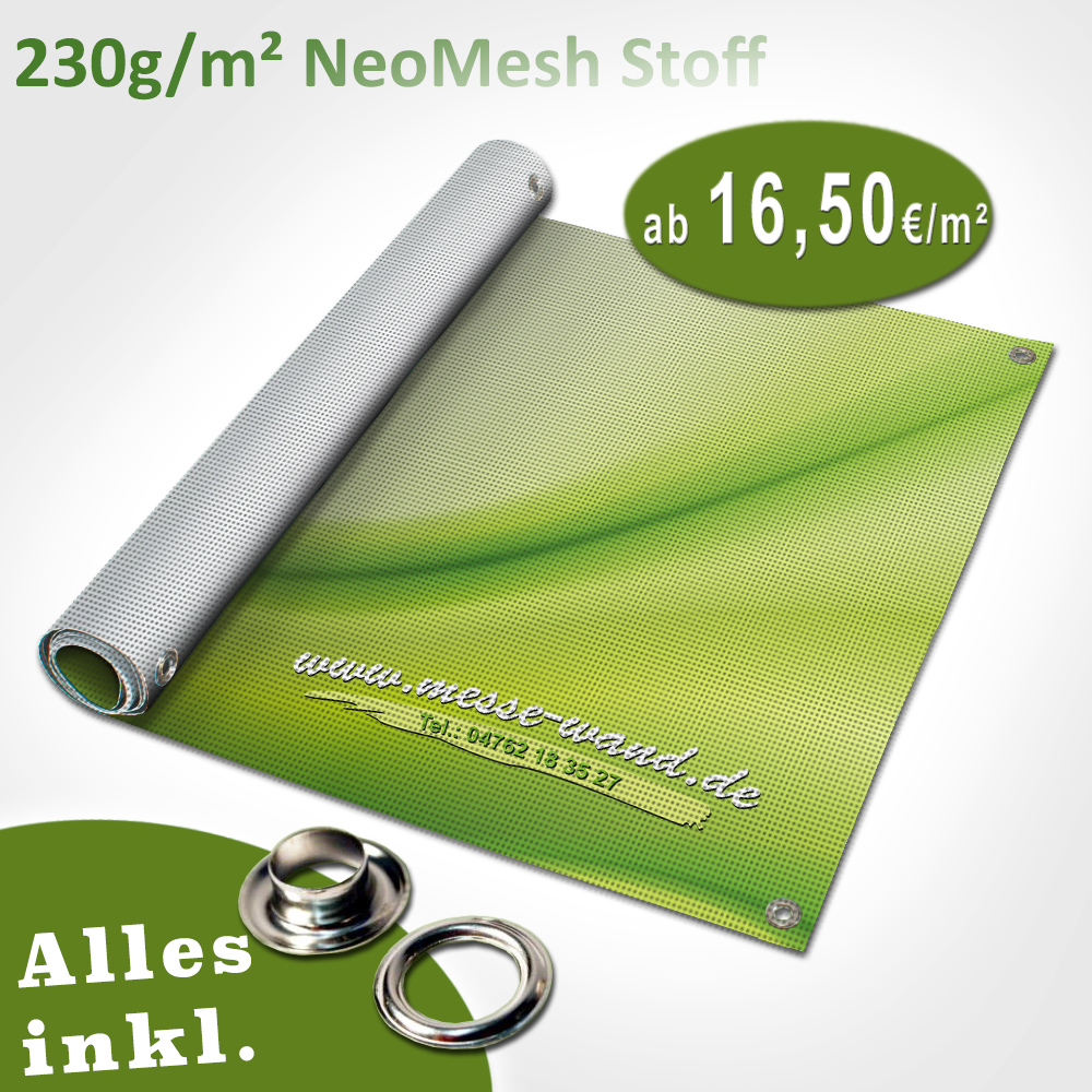 Druck auf NeoMesh Stoff 230g/qm