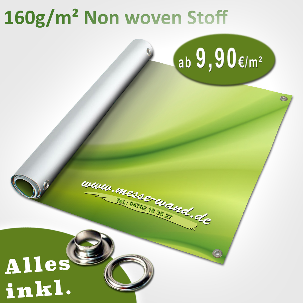 Druck auf Non Woven Stoff 160g/qm