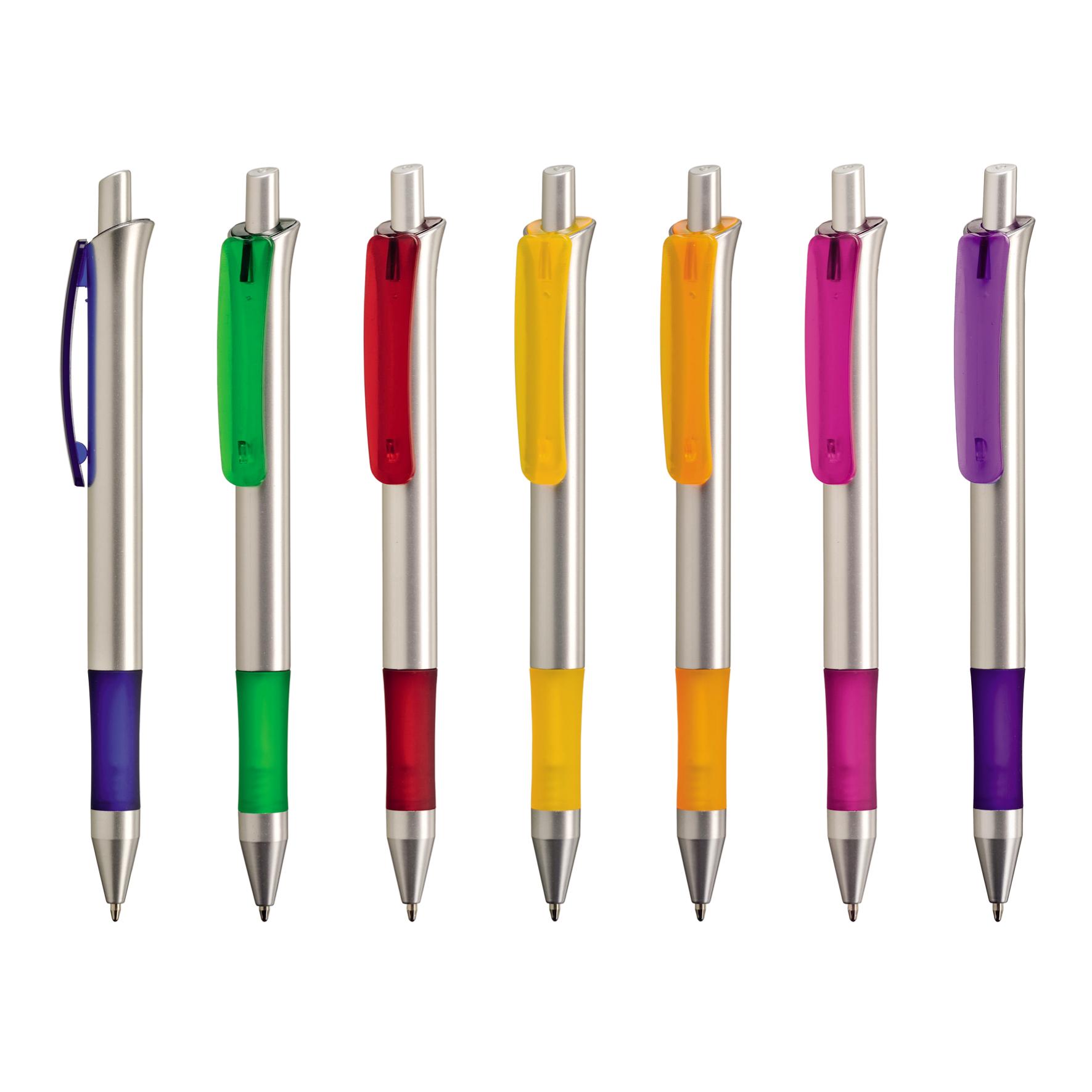 Kugelschreiber FESTO SILVER ab 50 Stk., Werbekugelschreiber mit 1-Seitigem Werbedruck