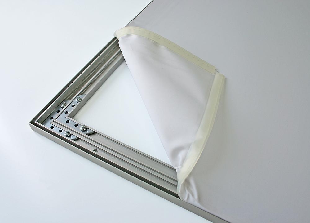 Textilrahmen für Wandmontage Einseitig