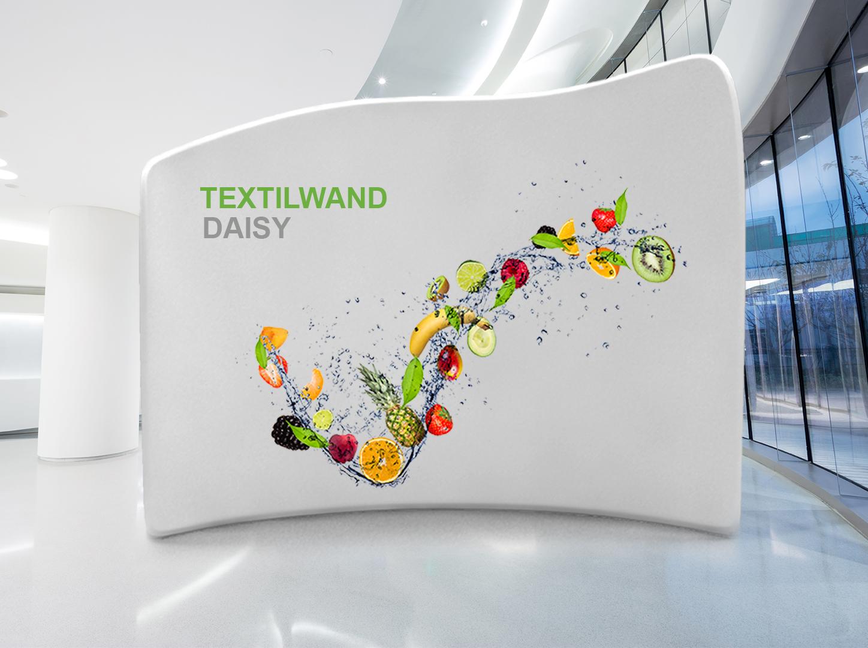 Textil Messewand Daisy