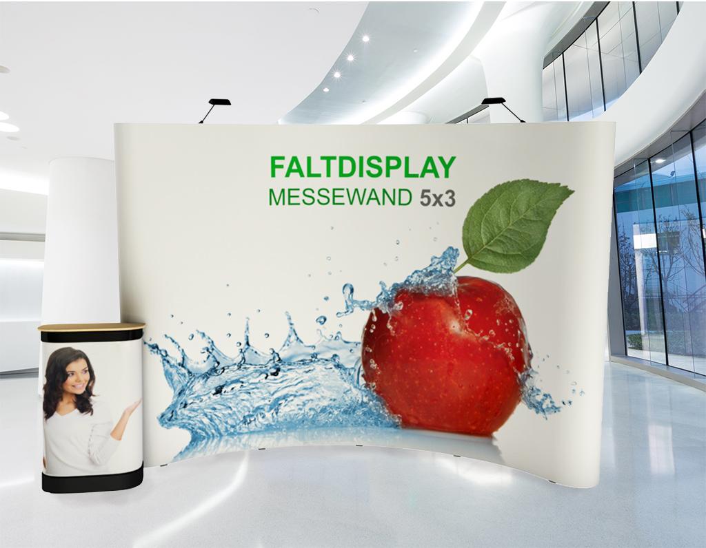 Faltdisplay 5x3 Gebogen