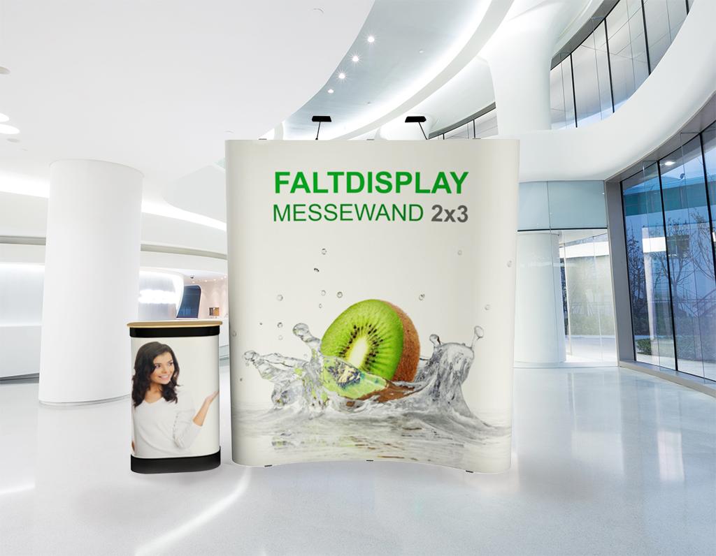 Faltdisplay 2x3 Gebogen