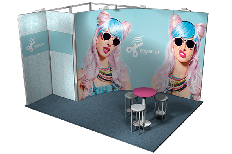 Messestand Modular 12 qm Vista