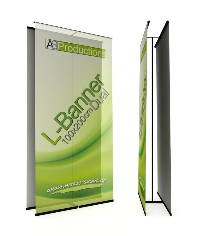 L-Banner Premium Dual (60-200 cm Breite)