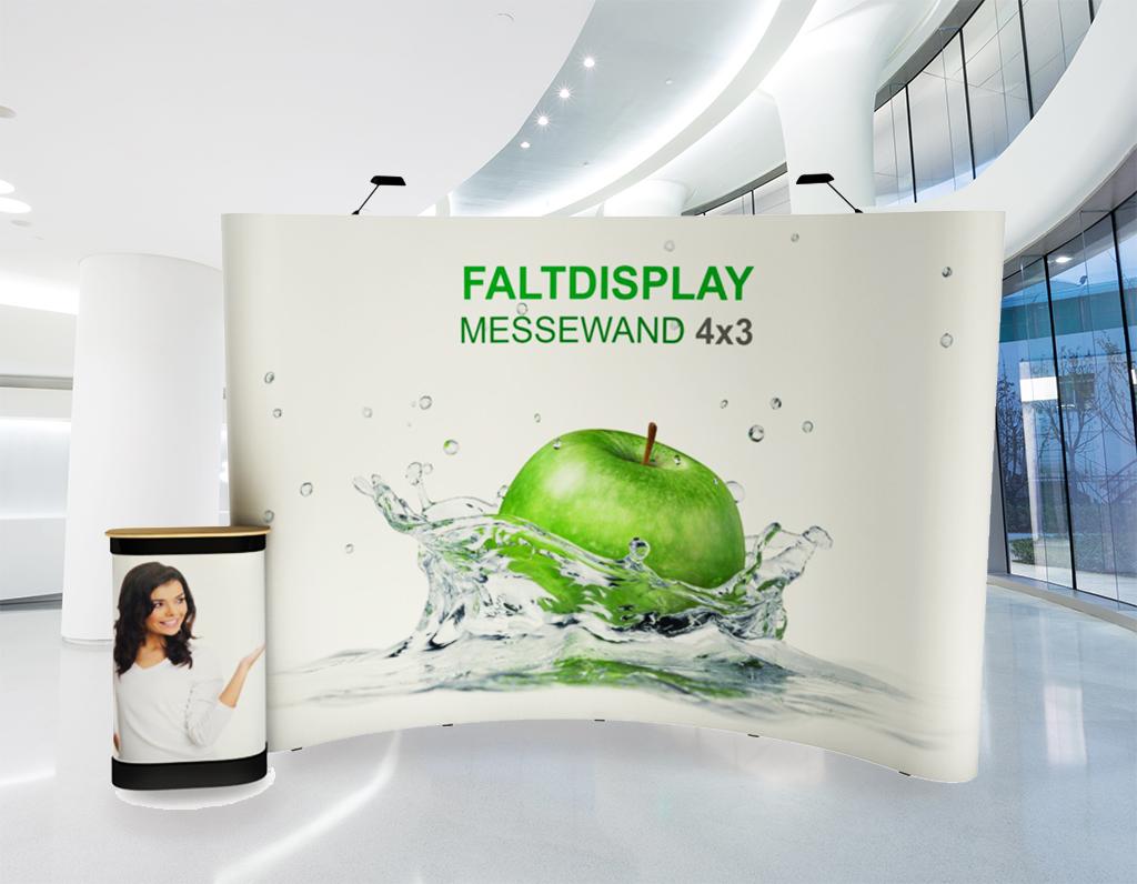 Faltdisplay 4x3 Gebogen