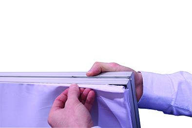 Textilspannrahmen Pressewand 100 Doppelseitig