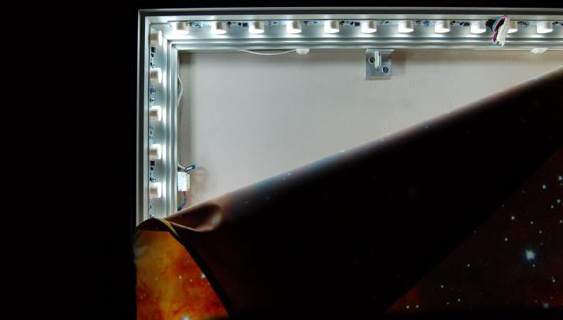 LED Textilspannrahmen Leuchtschild doppelseitig 200mm