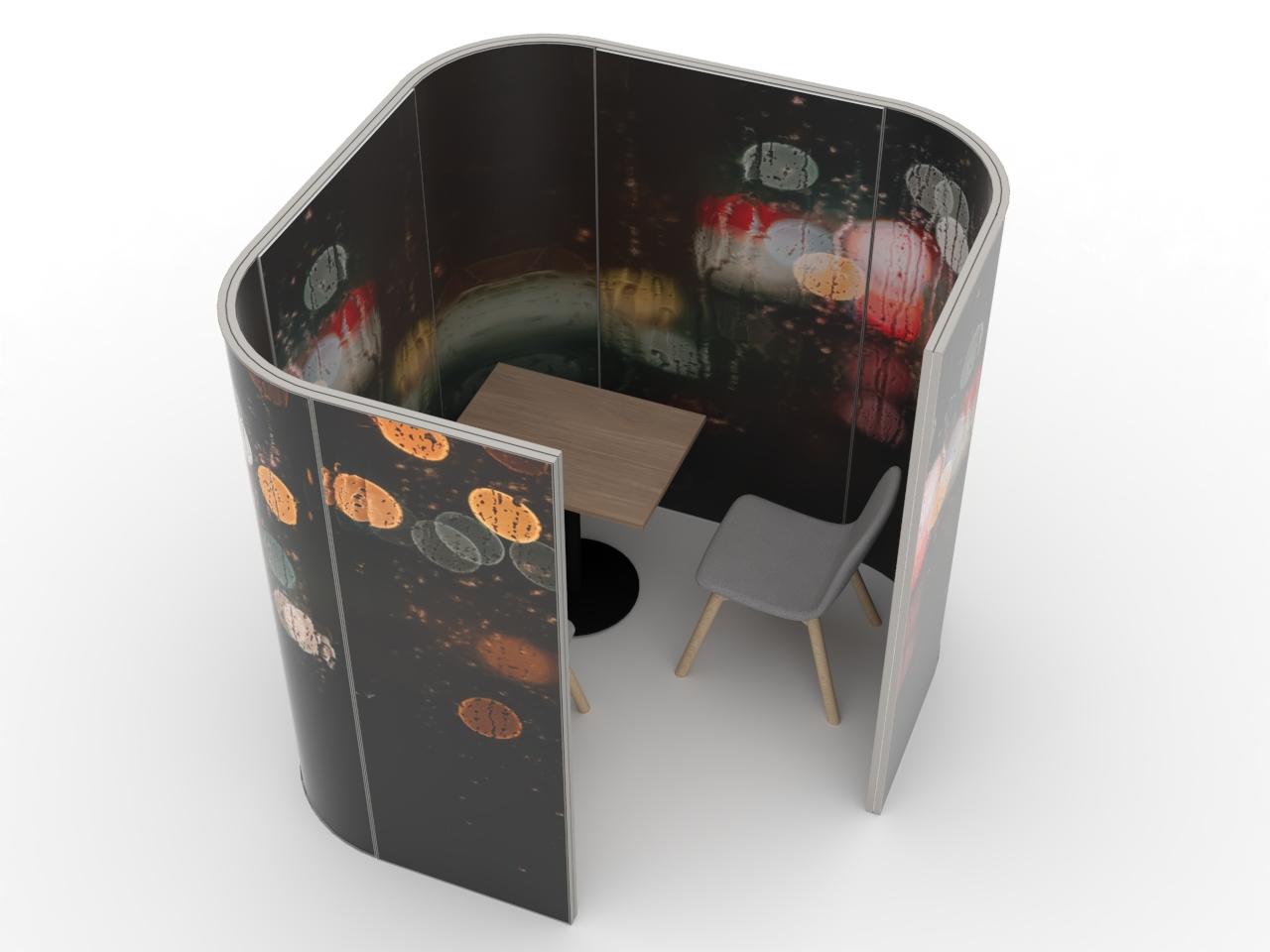 Mobile Trennwand Kabine für Praxis oder Büro