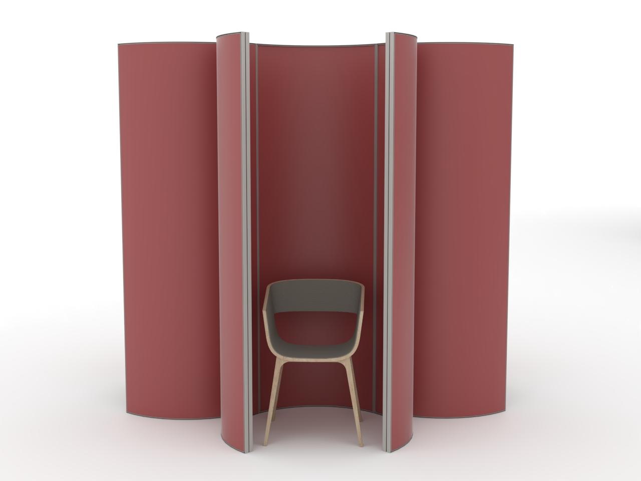 Mobile einzel Trennwand Kabine für Praxis oder Büro