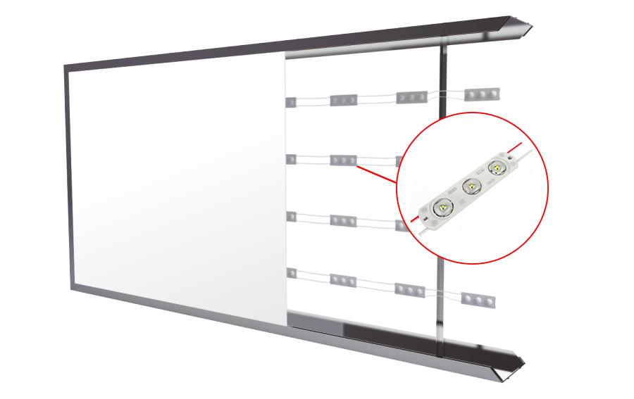 Leuchtkasten einseitig Tiefe 6cm