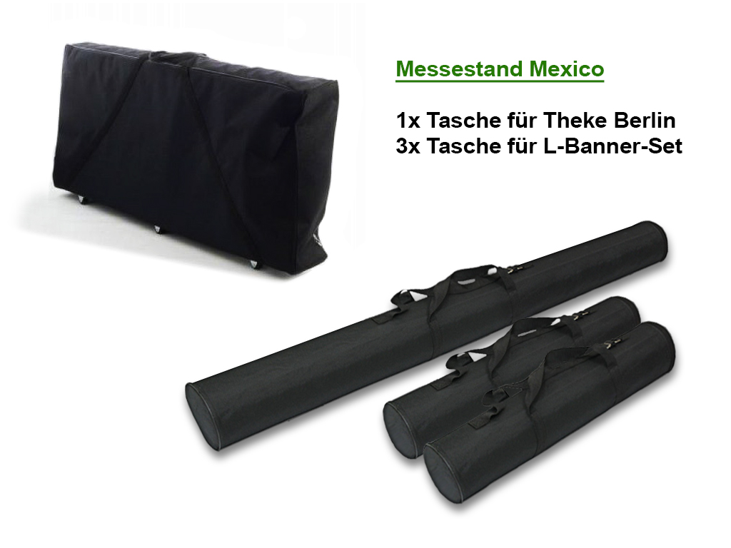 Messestand Mexico Komplettset inkl. Theke und Druck