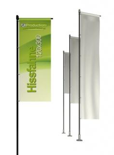 Hissfahne mit/ohne Hohlsaum 120 x 300 cm