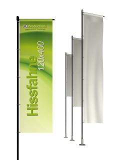 Hissfahne mit/ohne Hohlsaum 120 x 400 cm