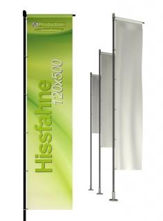 Hissfahne mit/ohne Hohlsaum 120 x 500 cm
