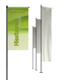 Hissfahne mit/ohne Hohlsaum  150 x 300 cm