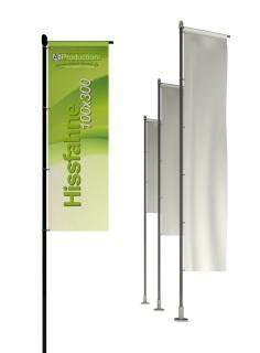Hissfahne mit/ohne Hohlsaum 100 x 300 cm