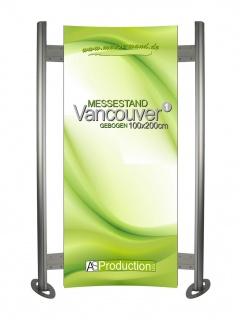 Messestand Pressewand Vancouver 1 Gebogen 100 x 200 cm