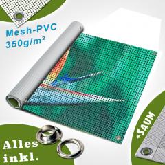 Druck auf PVC Mesh Standard 350g/qm