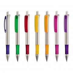 Kugelschreiber FESTO SILVER, Werbekugelschreiber mit 1-Seitigem Werbedruck