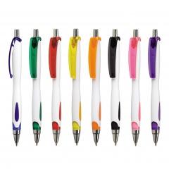 Kugelschreiber VIKI WHITE, Werbekugelschreiber mit 1-Seitigem Werbedruck