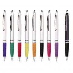 Kugelschreiber ESSO SILVER / BLACK, Werbekugelschreiber mit 1-Seitigem Werbedruck