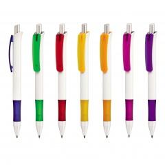 Kugelschreiber FESTO WHITE, Werbekugelschreiber mit 1-Seitigem Werbedruck