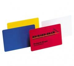 Kunststoff-Visitenkarten Einseitig