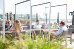 Infektionsschutzwand Trennwand für Restaurants nach Maß