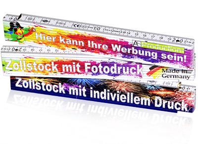 Zollstock mit Druck